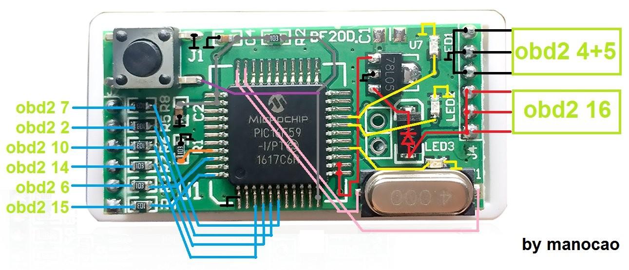 Nitro OBD Circuit Board Analysis
