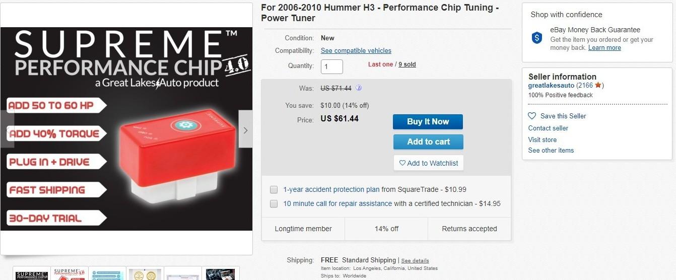 Supreme Performance Chip 4.0 Greatlakesauto Ebay Listing