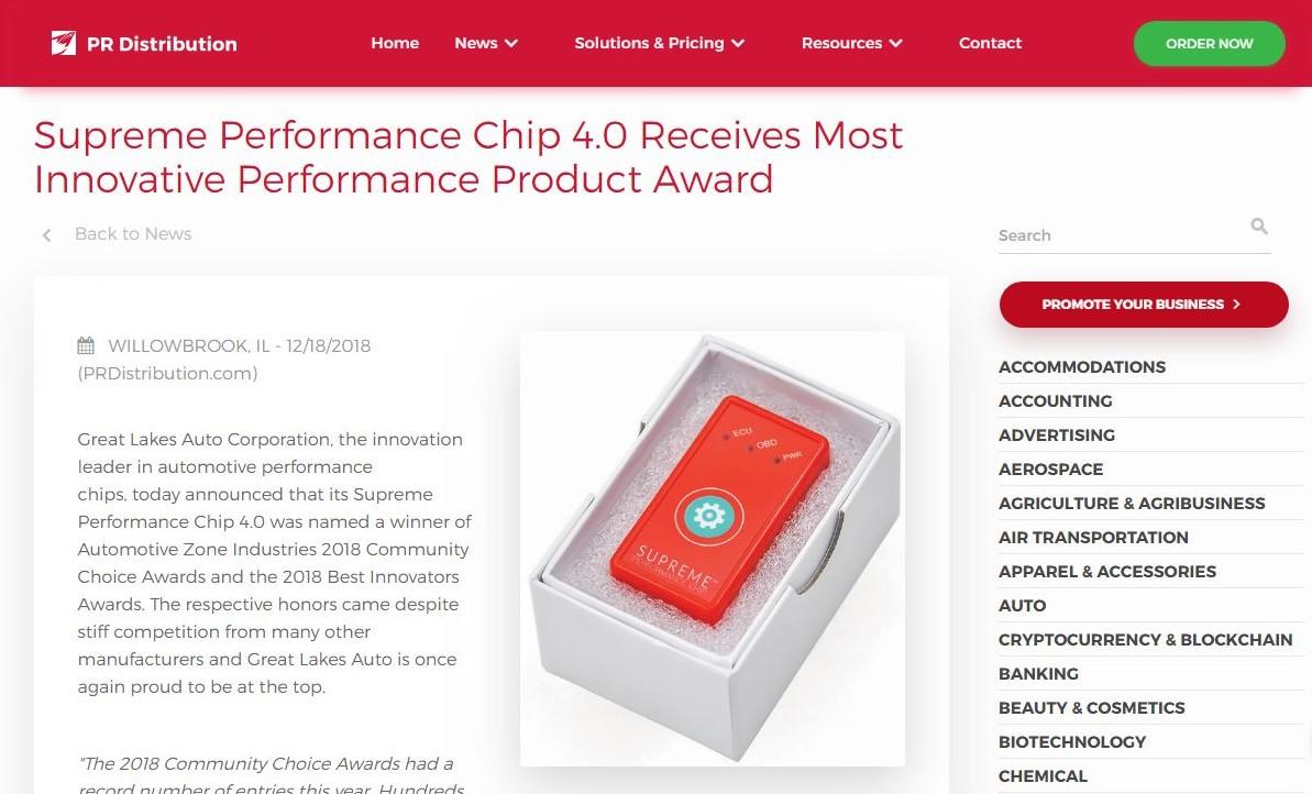 Supreme Performance Chip Prdistribution Advertising Scheme