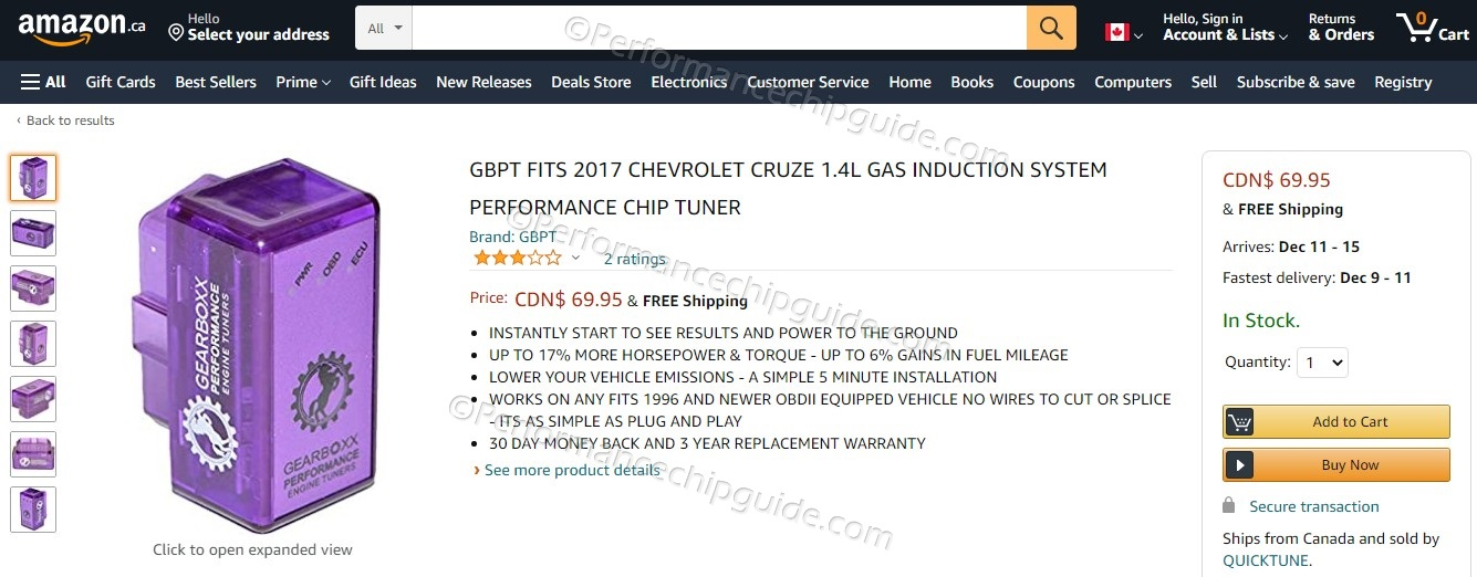 Amazon.ca Gearboxx Engine Performance Reviews