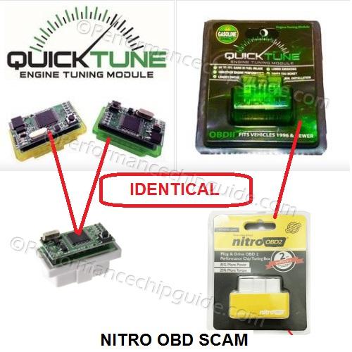 Comparison - Nitro OBD scam vs Quicktune Module