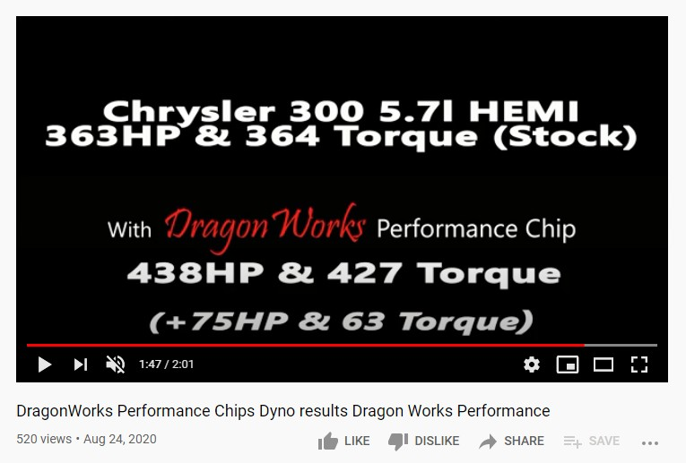 Dragonworks Performance Chip Suspicious Dyno Results on Youtube