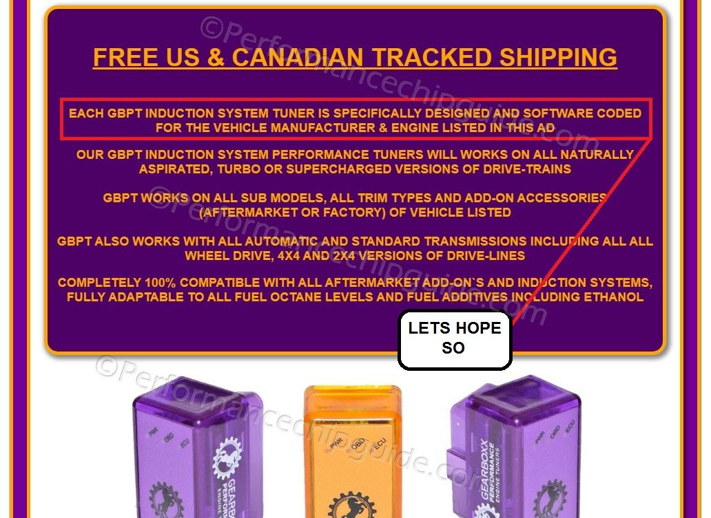 Gearboxx Performance Engine Tuner Ebay Ad Description