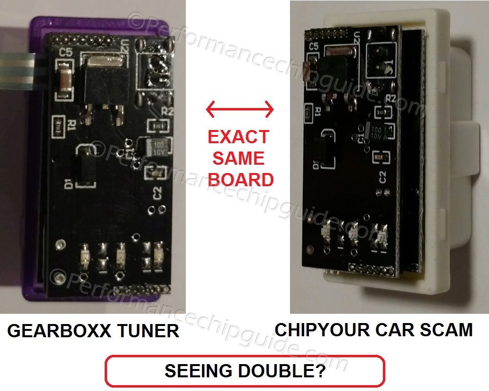 Gearboxx Performance Engine Tuner vs Chip Your Car Circuit Board Analysis and Comparison