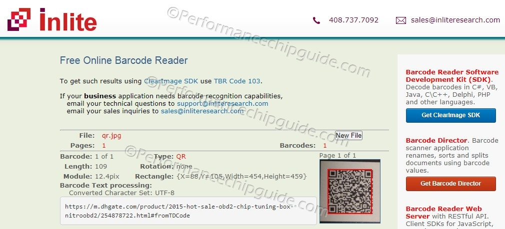 QR Code on Dragonfire Performance Packaging Decoded