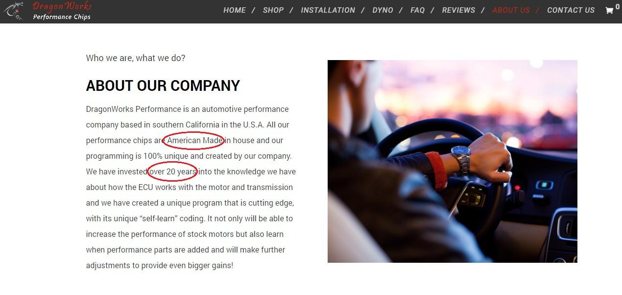 Redline Technologies Website - Dragonworks Performance