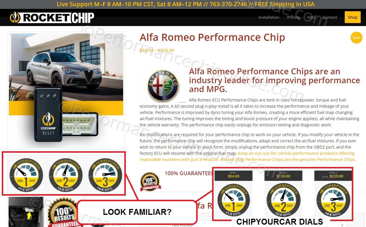 Rocket Chip scam design comparison to Chipyourcar