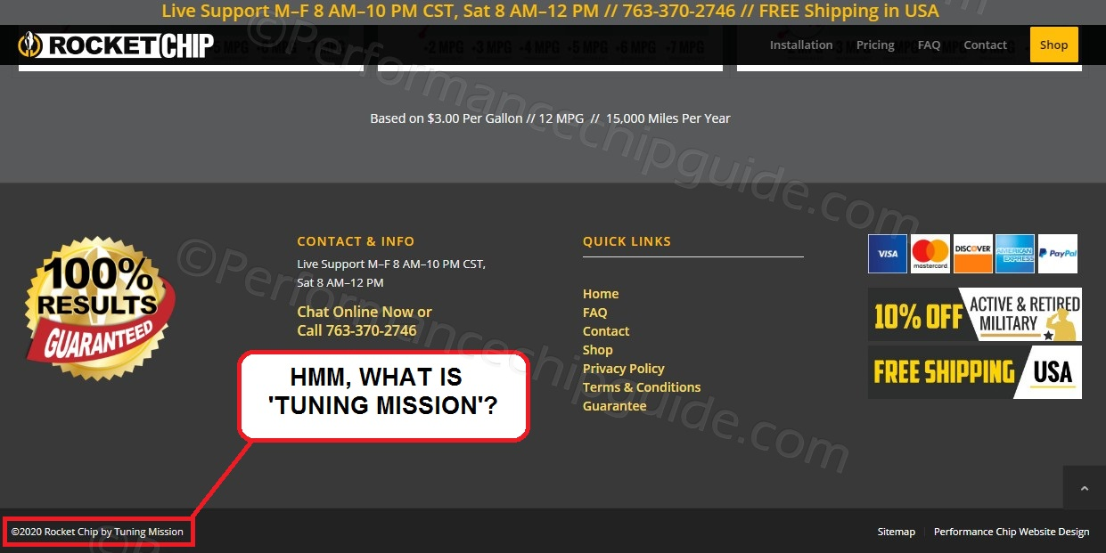 RocketChip scam by Tuning Mission Screenshot