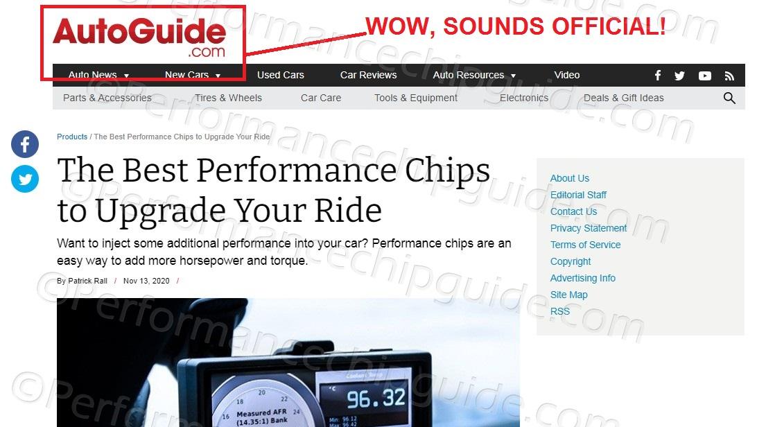 Autoguide.com Fake Review Site - Advertising