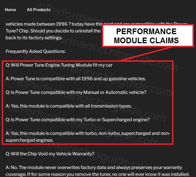 Powertune Engine Tuning Module Claims Powertuneperformance.com