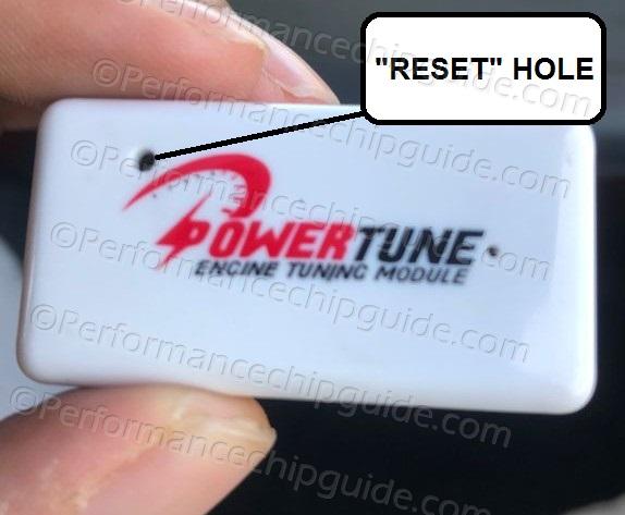Powertune Engine Tuning Module Reset Hole