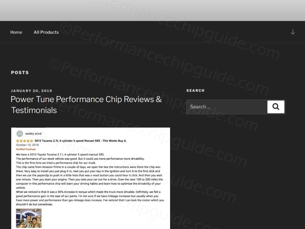 Powertuneperformance.com website Testimonials