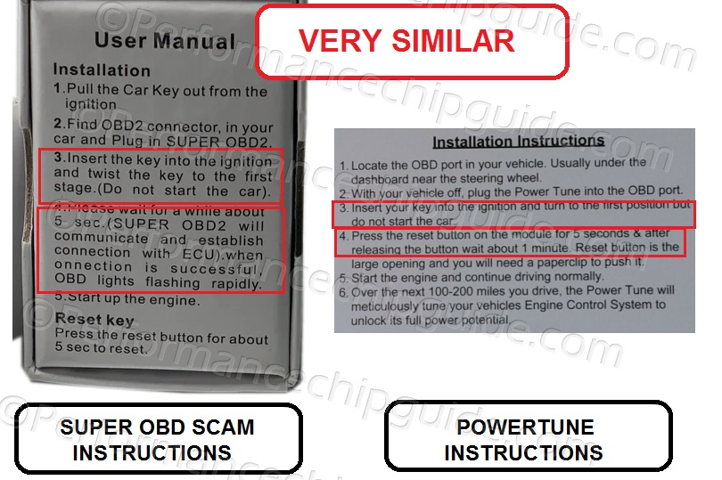 SuperOBD Box and Install Instructions comparison to Powertune Engine Tuning Module