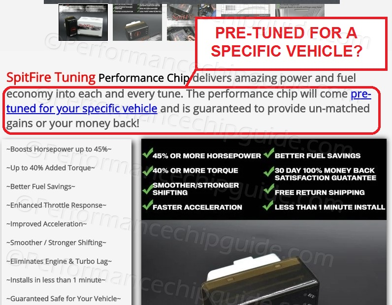 Spitfire Tuning Performance Chip Claims